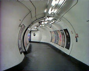 Going around passages in London Underground